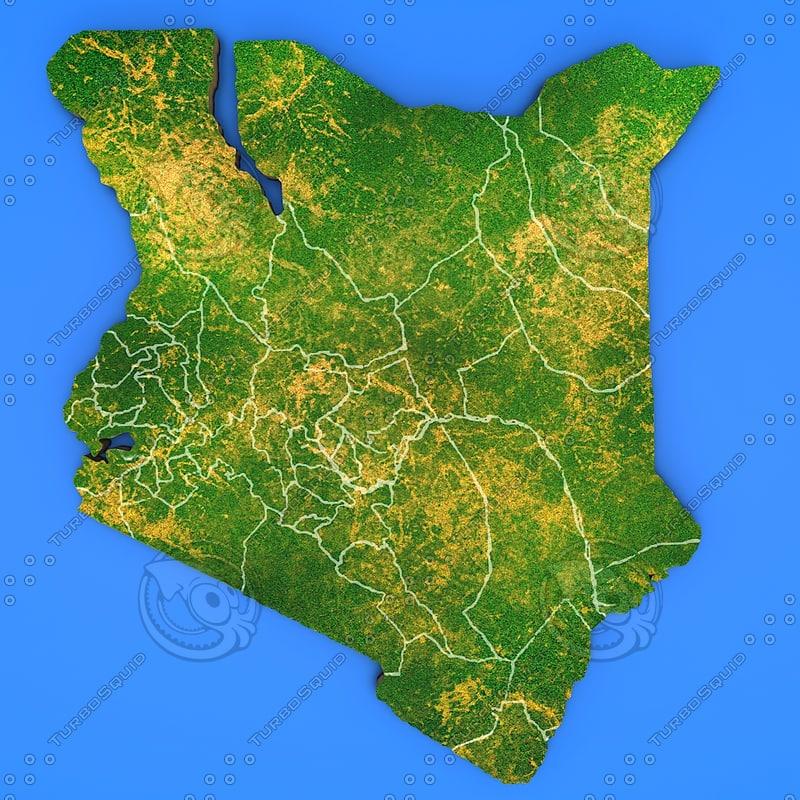 kenya country 3d model