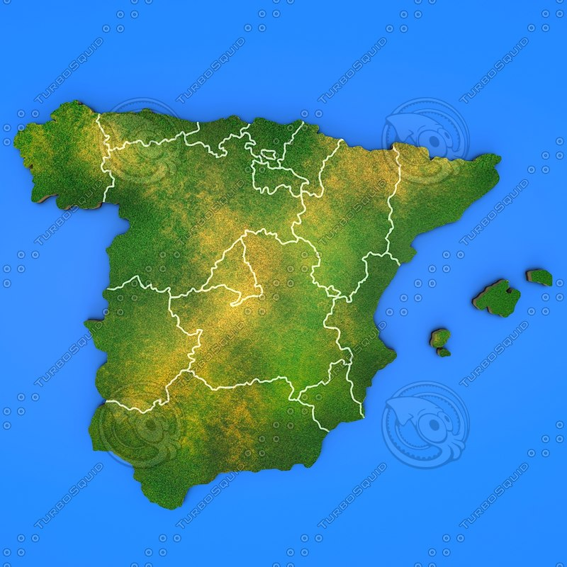 spain country 3d model