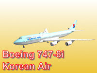 boeing 747-8i korean air 3d obj