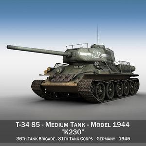 t-34 85 - soviet 3d model