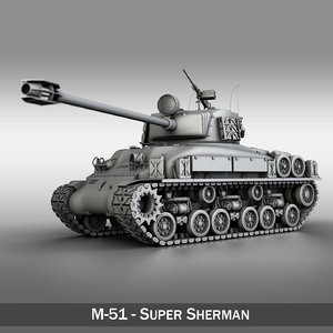 3d m-51 super sherman tanks