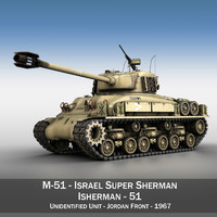 3d m-51 sherman tanks isherman