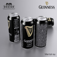 3d model beer guinness