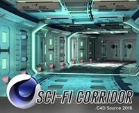 corridor scene 3d model