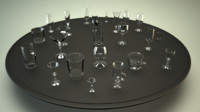 bar glass collections glassware obj