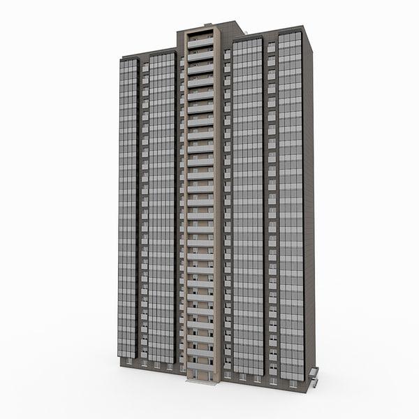 25 storey house 3d max