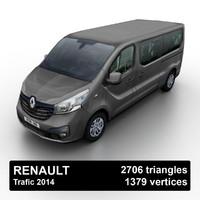 2014 renault trafic 3d model