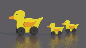 free wooden duck 3d model
