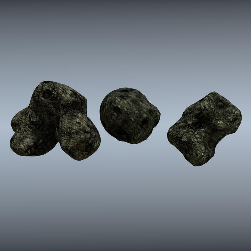 3d asteroids model