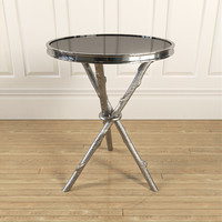 3d coffee table silver