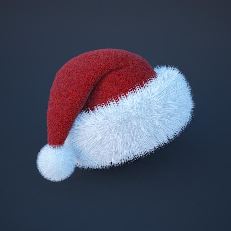 3d santa s cap