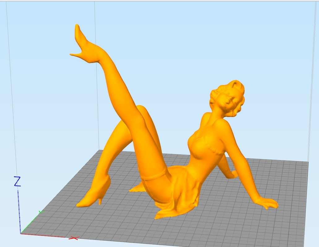 3d pinup girl