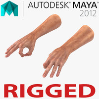 Old Man Hands 2 Rigged for Maya