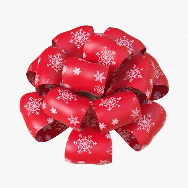 3d christmas bows