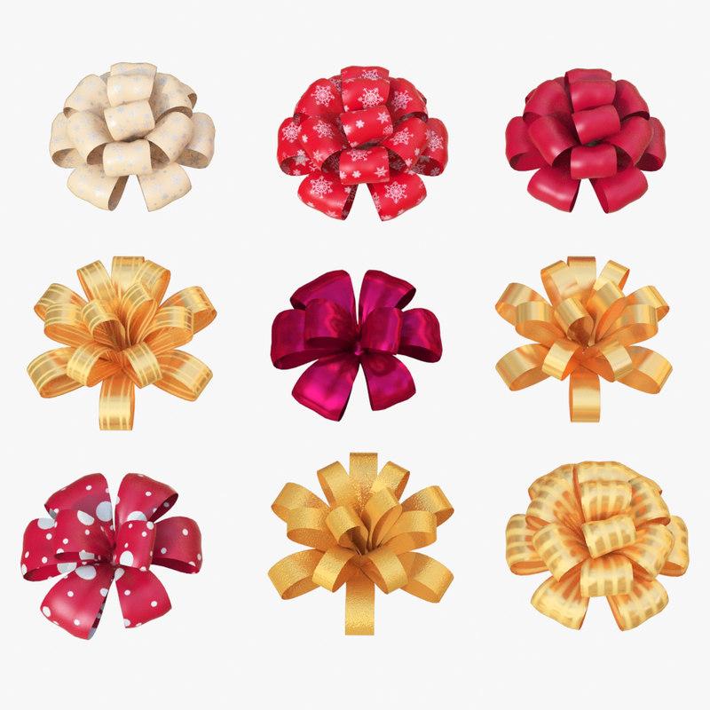 3d model christmas bows