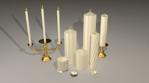 3d ma set candles