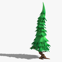 cartoon fir stylised 3d max