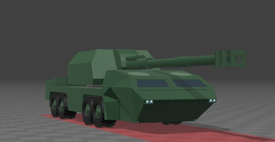 3d self propelled artillery model