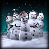 x pack snowman