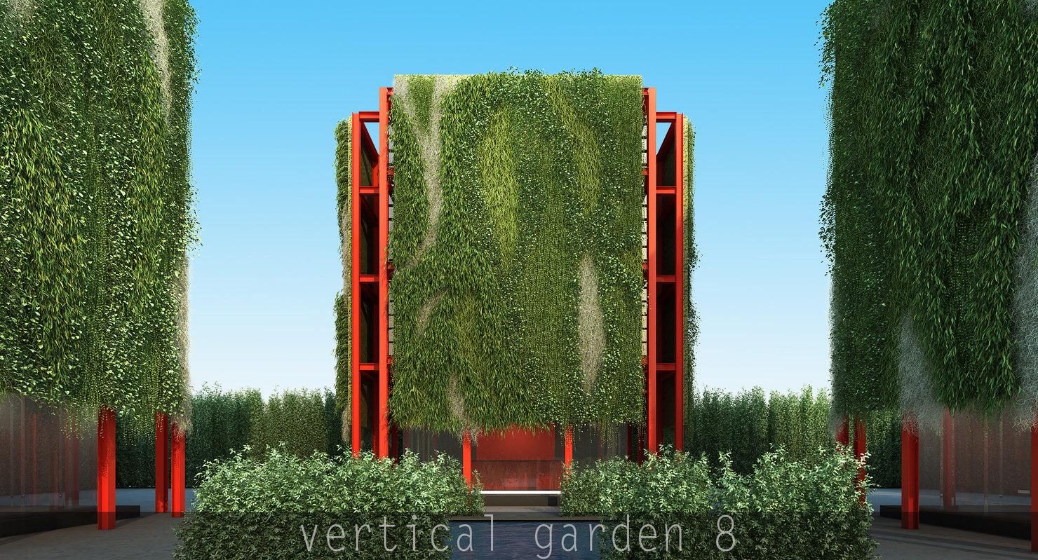 8 plants epipremnum 3d model