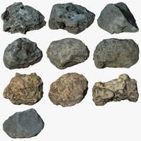 scan 10 rock 3d max