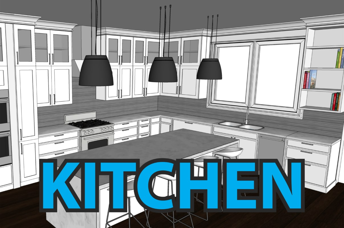 kitchen cabinets 3d model