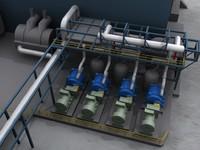 geothermal plant 3d max