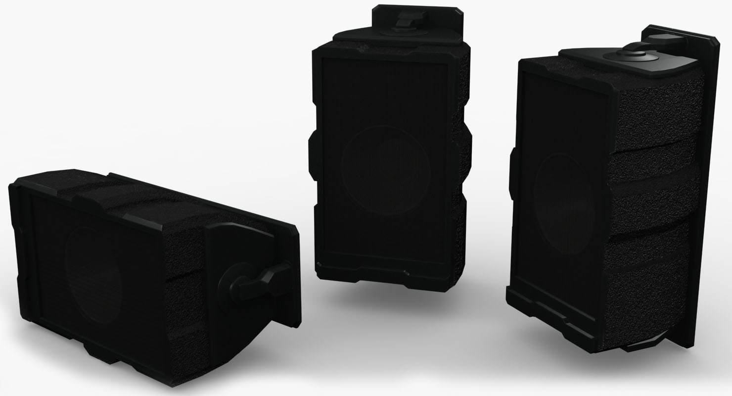 3d model wall speaker