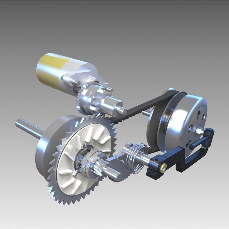 3d model variator scooter