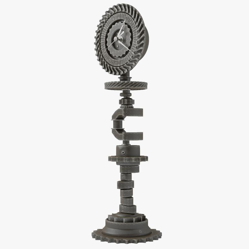 clock table 3d model