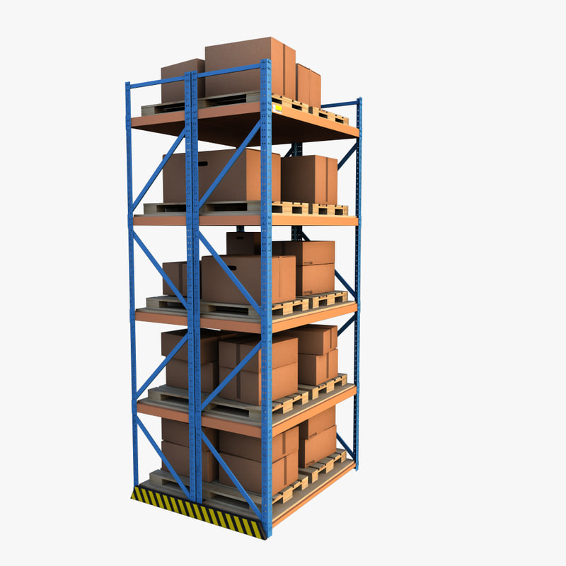 3d model warehouse shelf