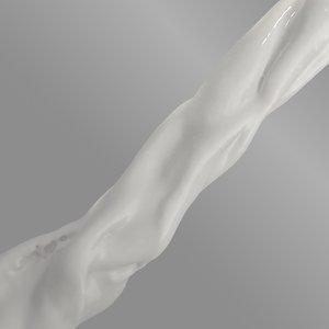 flow shaders milk 3d model