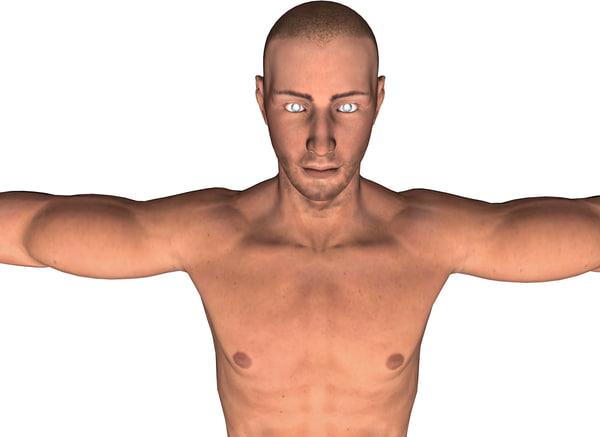 3d man human male model