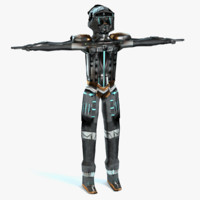 scifi soldier 3d model