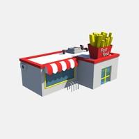 fast food 3d max