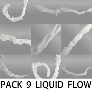 3d liquid flow pack model