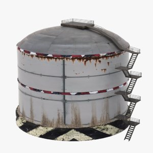 free oil tank 3d model