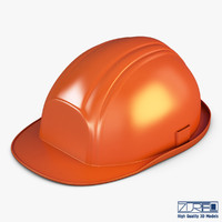 hard hat orange v 3d max