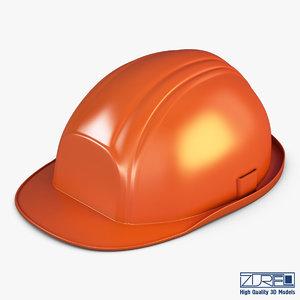 hard hat orange v 3d max