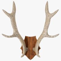 loon1408 wood antler mount 3d max