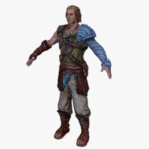 3d fantasy knight model