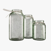 Aged Decorative Green Jars