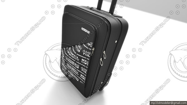 american tourister bag 3d max