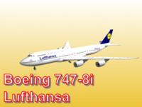 boeing 747-8i lufthansa 3d obj