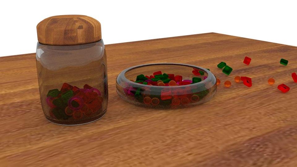 3d jar candies model