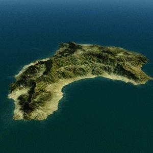 island terrain landscape 3d model