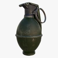 grenade m26 3d model