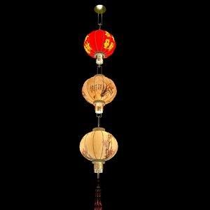 chinese lantern red 3d model