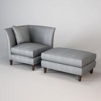 Baker Vicomtesse Lounge Chair
