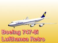 boeing 747-8i lufthansa retro obj
